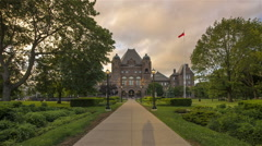 Hyperlapse / Timelapse at Queen's Park, Toronto Stock Footage