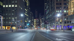 Hyperlapse / Timelapse on University Avenue, Toronto, ON, Canada Stock Footage