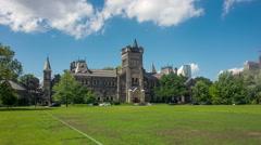 Hyperlapse / Timelapse of the University of Toronto - stock footage