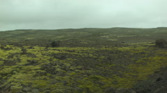 Broad Foggy Plain in the Western Fjords of ICELAND Stock Footage