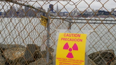 Radioactive area across bay from San Francisco Stock Footage
