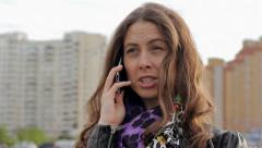 Angry Woman On The Mobile Phone HD Stock Footage