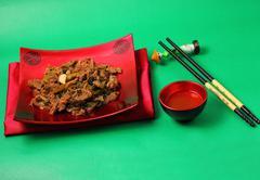 Vietnamese beef stir fry Stock Photos