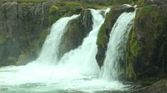 DYNJANDI (FJALLFOSS) WATERFALL, ICELAND Stock Footage