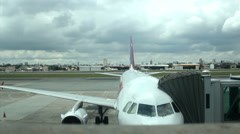 Airplane terminal. Departure. Transport. Airport. Backlot  50 sec Stock Footage