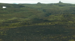 Pan of the Landscape of the Western Fjords, ICELAND Stock Footage