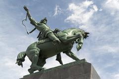 Stock Photo of Salavat Yulaev Horse Rider Statue in Ufa Russia