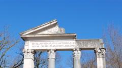 Tempio di Antonino e Faustina, Villa Borghese gardens, Rome, Italy. 4K Stock Footage
