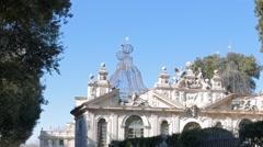Casino dell' Uccelliera. Villa Borghese gardens, Rome, Italy. 1280x720 Stock Footage