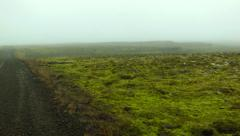 Dirt Road with Moss and Green in ICELAND Stock Footage