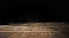 Feet of Man and Woman dancing on wooden floor Stock Footage