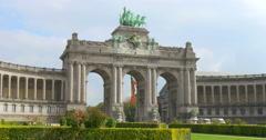 Parc du Cinquantenaire, Jubelpark. Brussels, Belgium. Stock Footage