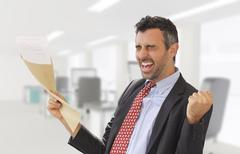 Work promotion news arrived - stock photo