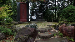 IKO Kyokushinkaikan founder Sosai Masutatsu Oyama's Monument Stock Footage