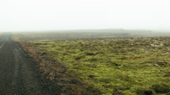 Dirt Road with Moss in ICELAND Stock Footage