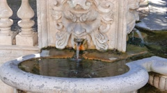 Drinking fountain in Villa Borghese, Rome, Italy Stock Footage