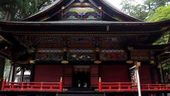 Ancient Shinto shrine Mitsumine. Japan. Chichibu. Saitama Stock Footage
