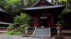 Inside the temple complex Mitsumine. Japan. Chichibu. Saitama Stock Footage