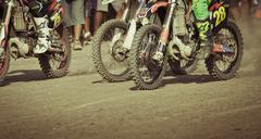 Background of motocross in Bali Stock Photos