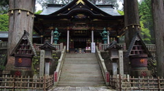 Beautiful Shinto shrine Mitsumine. Japan. Chichibu. Saitama Stock Footage