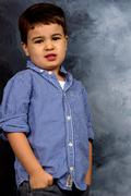 little boy in pose - stock photo