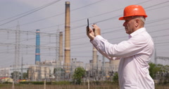 Project Engineer Inspector Manager Control Expertise Power Electricity System Stock Footage