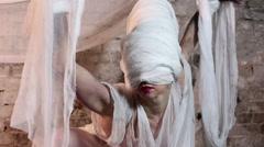 Bandaged Magic Dream Fashion Woman Stock Footage