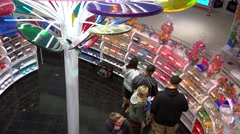 Buyers in the Dylan's Candy Bar. Stock Footage