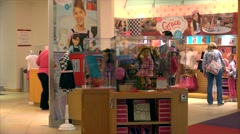 Buyers in the American Girl Place store. Stock Footage