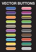 Blank Vector web buttons Design elements - stock illustration