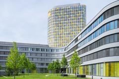Modern office building of German automobile club ADAC - stock photo