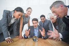 Group of business man predict the future Stock Photos