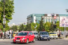 Rush Hour In Union Square (Piata Unirii) Stock Photos