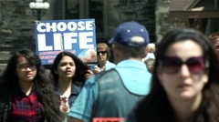March for Life - Anti Abortion Rally on Canada's Parliament Hill Stock Footage