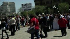 2015 March for Life - Ottawa Canada - Rally against Abortion Stock Footage