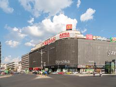 Unirea Mall Shopping Center In Downtown Bucharest Stock Photos