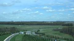 Dulles International Airport Washington DC entrance road 4K 010 Stock Footage