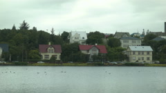 Side of the Street in Center City REYKJAVIK, ICELAND Stock Footage