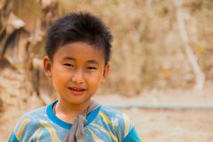 Burma/Myanmar Civil War Karen State April 2015 - stock photo