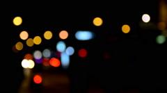 Bokeh effect during nighttime  Stock Footage