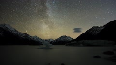 Day To Night Timelapse At Mount Cook National Park Stock Footage
