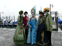 Venetian carnival, awaiting the sunrise. Stock Footage