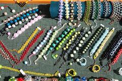 Costume jewelery and beads Stock Photos