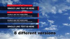 8 version lower third - stock after effects