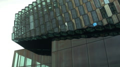 Harpa Outside in ICELAND Stock Footage