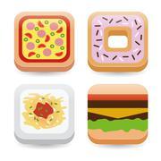 food application icons - stock illustration