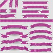 Violet ribbons Stock Illustration
