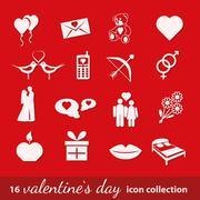 Valentine icons Stock Illustration