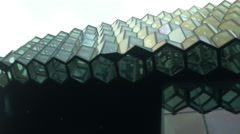 The Exterior of the Harpa outside REYKJAVIK, ICELAND Stock Footage