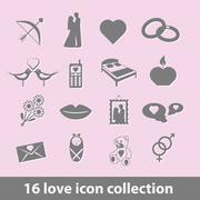 Love icons Stock Illustration